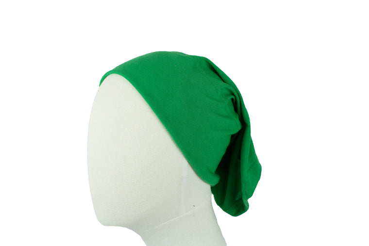 Under Scarf Tube Cap - Kelly Green