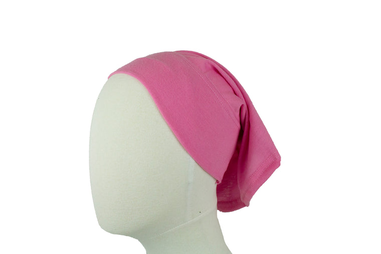 Under Scarf Tube Cap - Bubblegum Pink