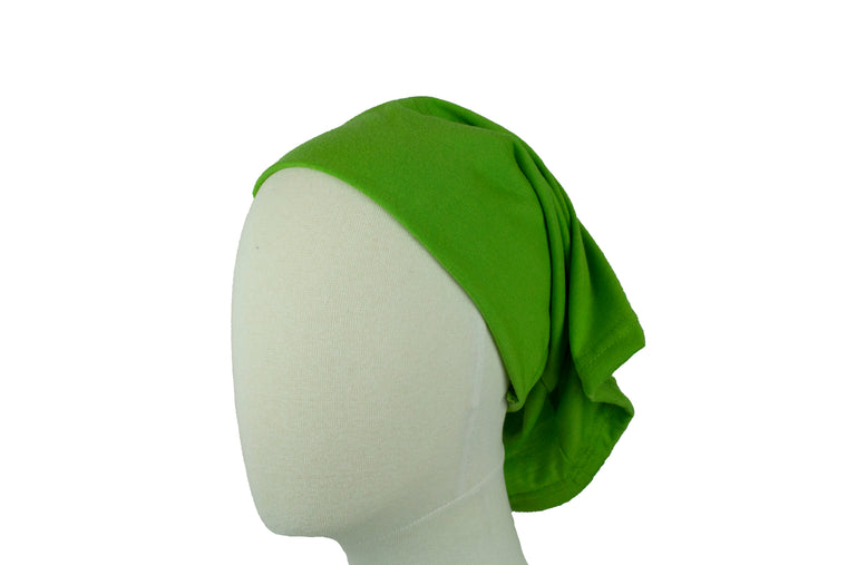 Under Scarf Tube Cap - Pear Green