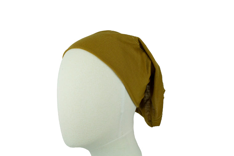 Under Scarf Tube Cap - Golden Latte