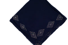 Gem Square Hijab - Black Diamond