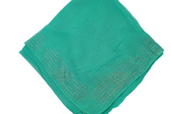 Gem Square Hijab - Teal Circle Burst