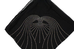 Gem Square Hijab - Black Angel Wings