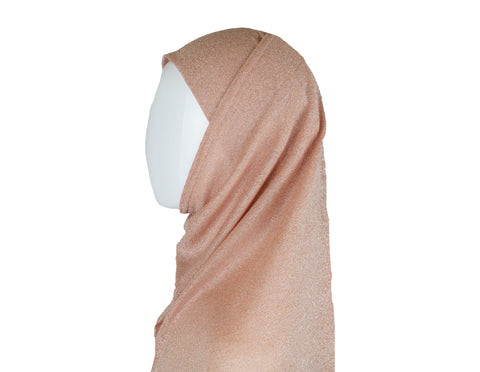 light pink shimmer two piece amira slip on hijab