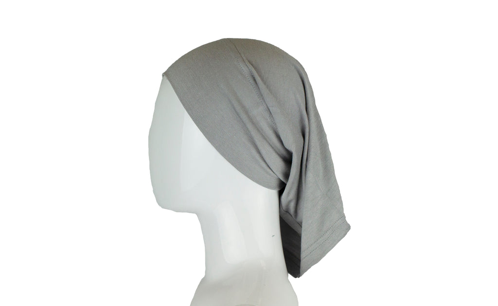 silver under scarf tube cap for hijab