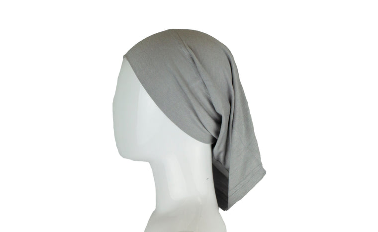 Jersey Under Scarf Tube Cap - Silver