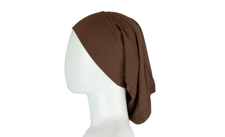 Jersey Under Scarf Tube Cap - Chocolate