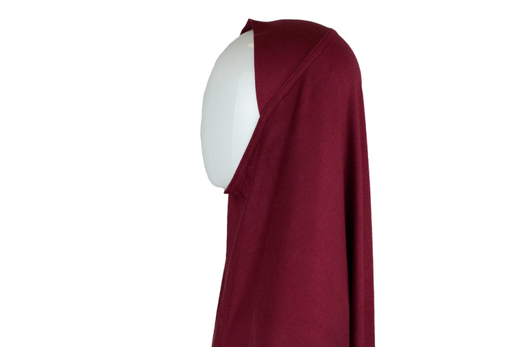 One Piece Slip on Jersey Hijab - Maroon