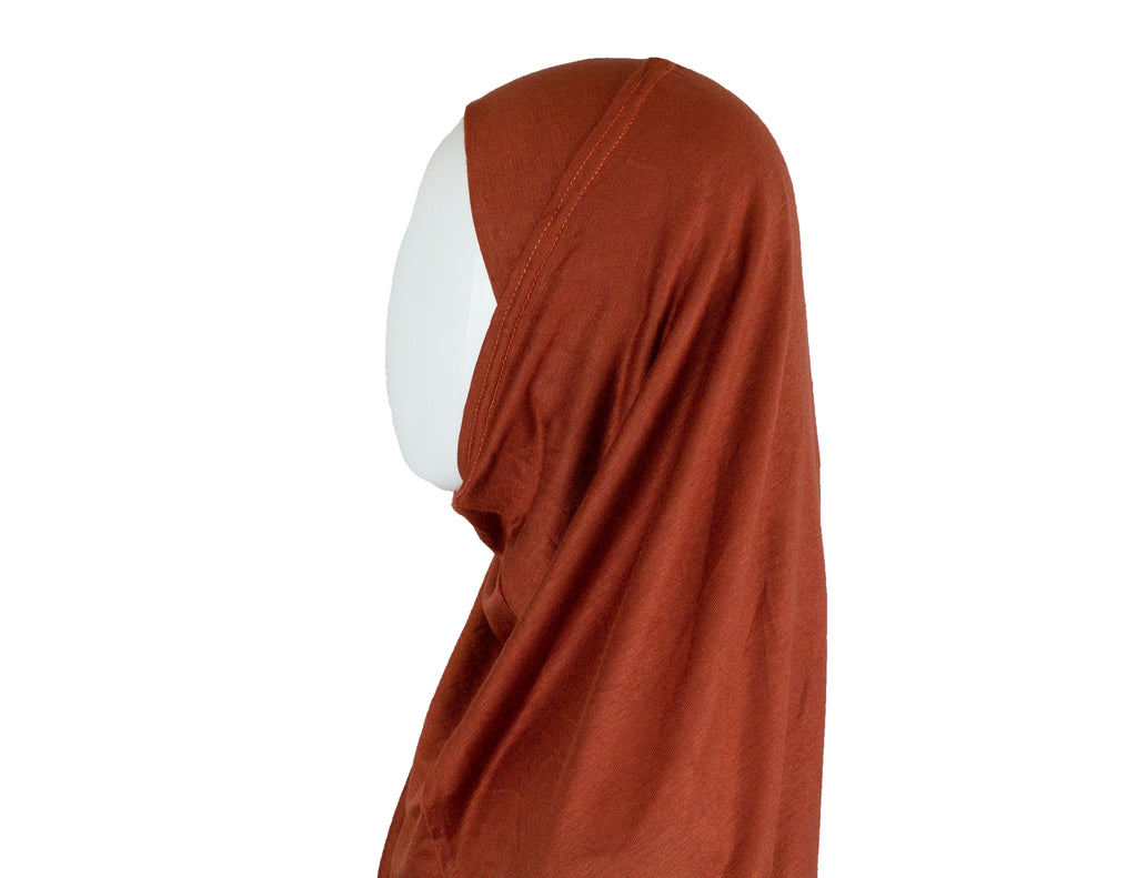 Jersey Two-Piece Hijab - Burnt Orange