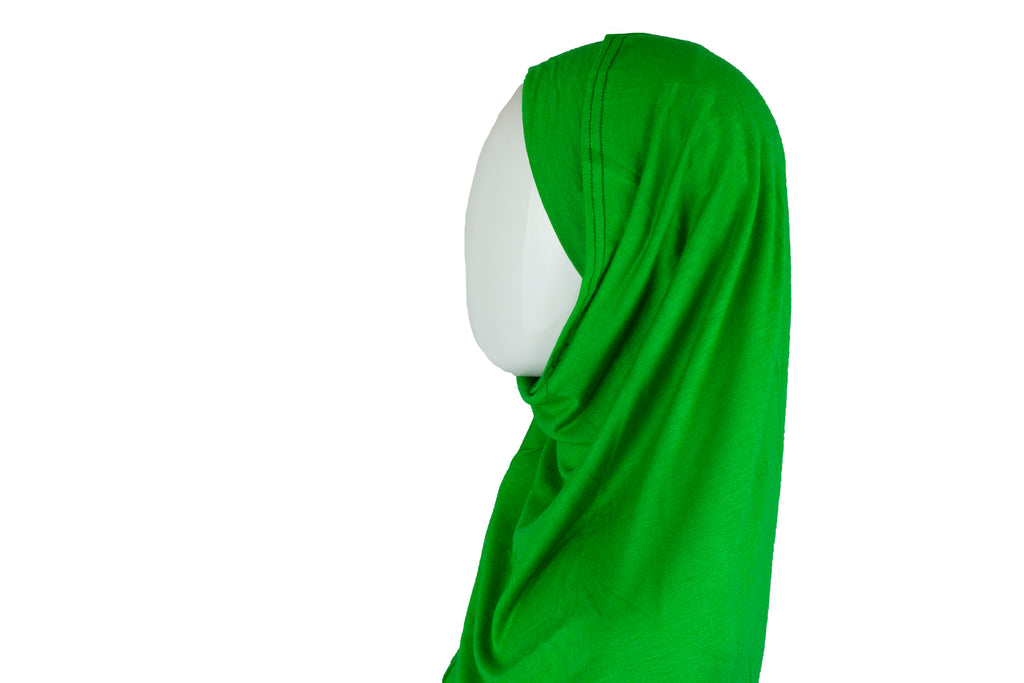 Jersey Two-Piece Hijab - Green