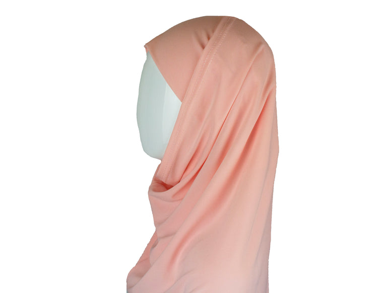 Two-Piece Amira Hijab - Light Pink