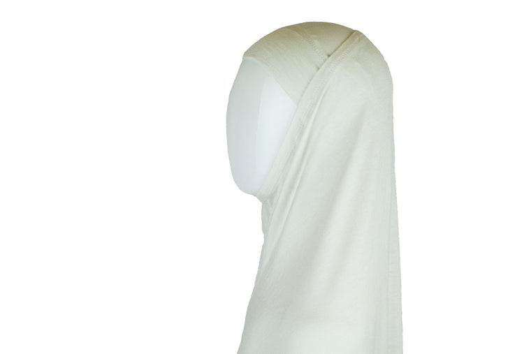 Jersey Two-Piece Hijab - White