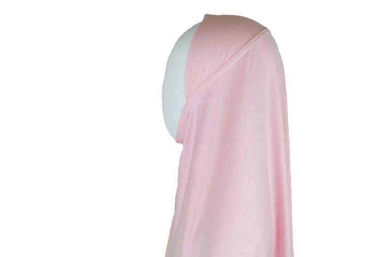 One Piece Slip on Jersey Hijab - Light Pink