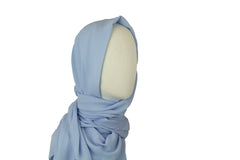 light baby blue chiffon hijab