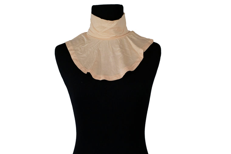 Jersey Mock Collar Neck Piece - Peach