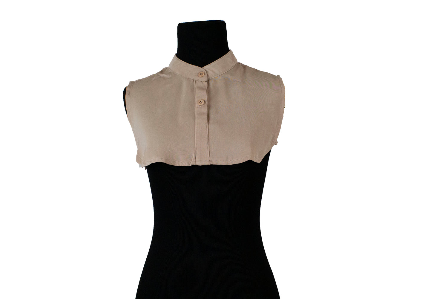 Mock Collar Neck Piece - Tan