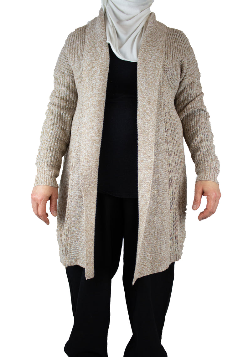Knitted Cardigan - Tan