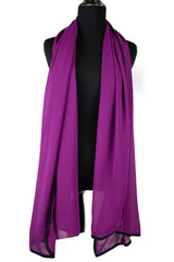 black trimmed hijab in chiffon fabric