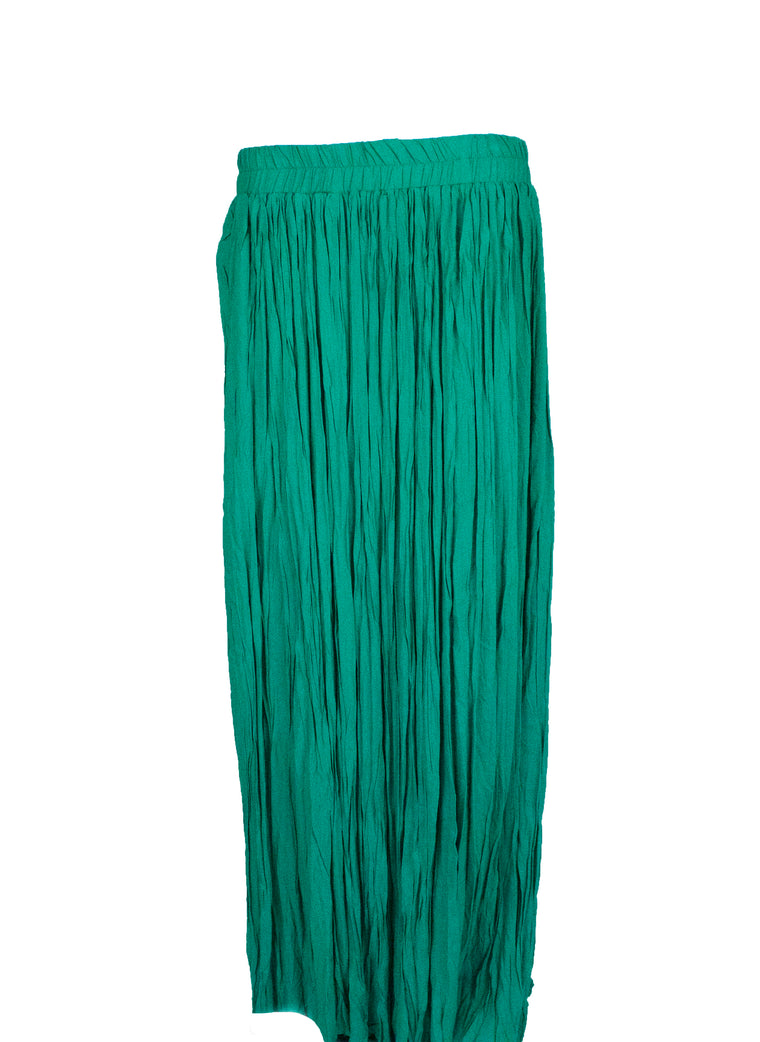Pleated Maxi Skirt - Green