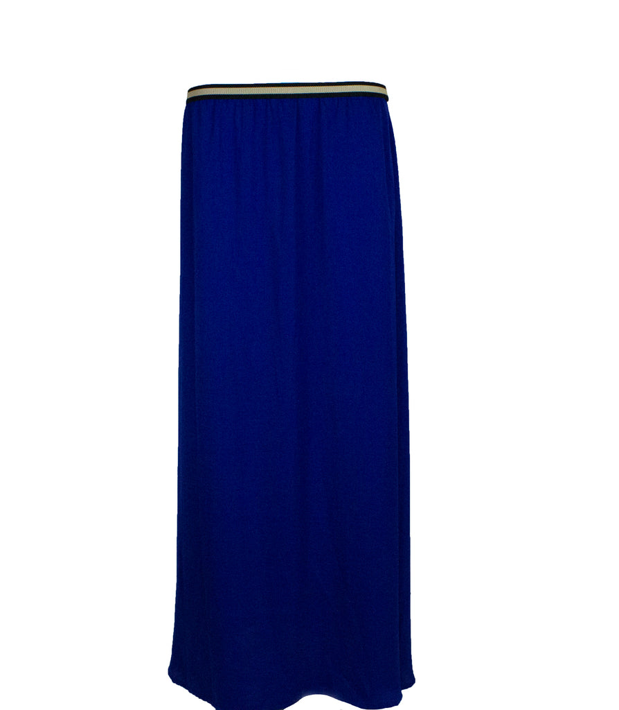 royal blue maxi skirt with a waist band