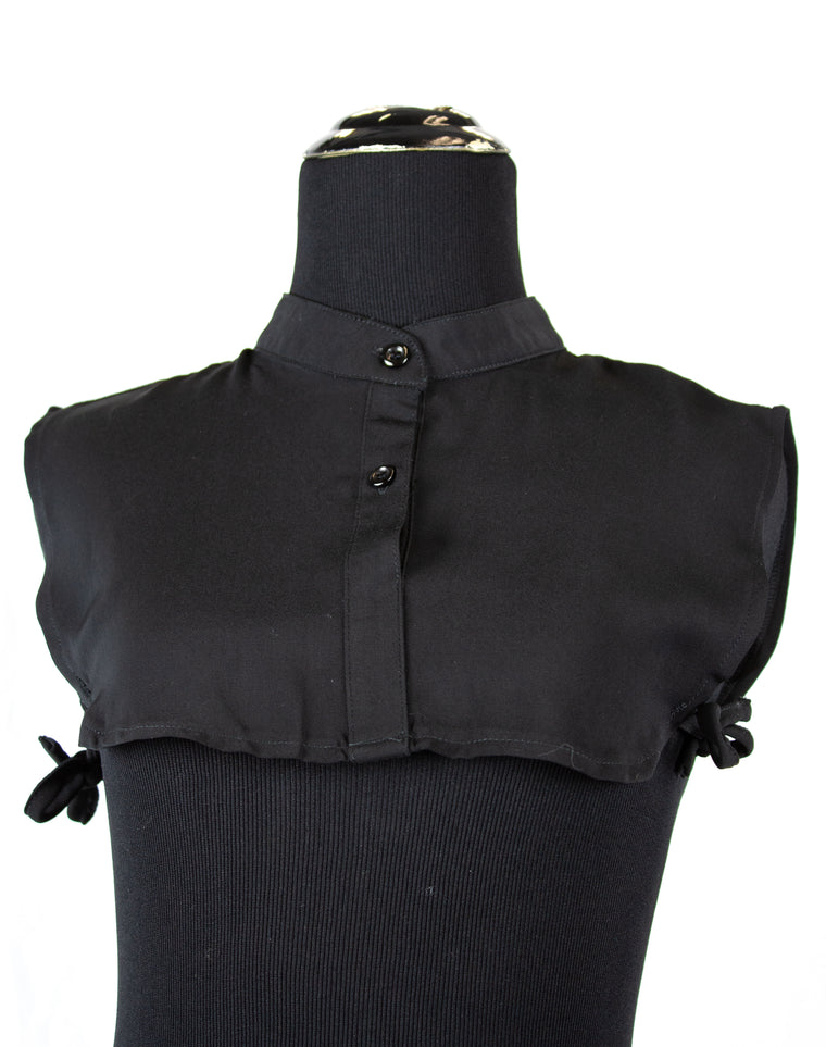 Mock Collar Neck Piece - Black