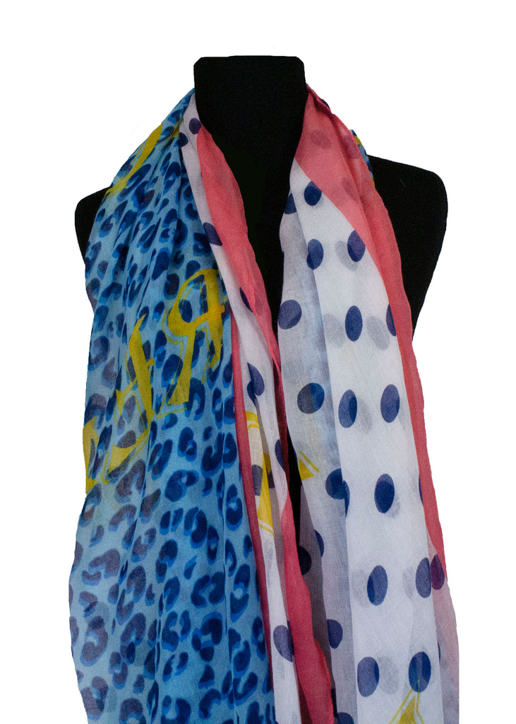 polka dot and cheetah print hijab