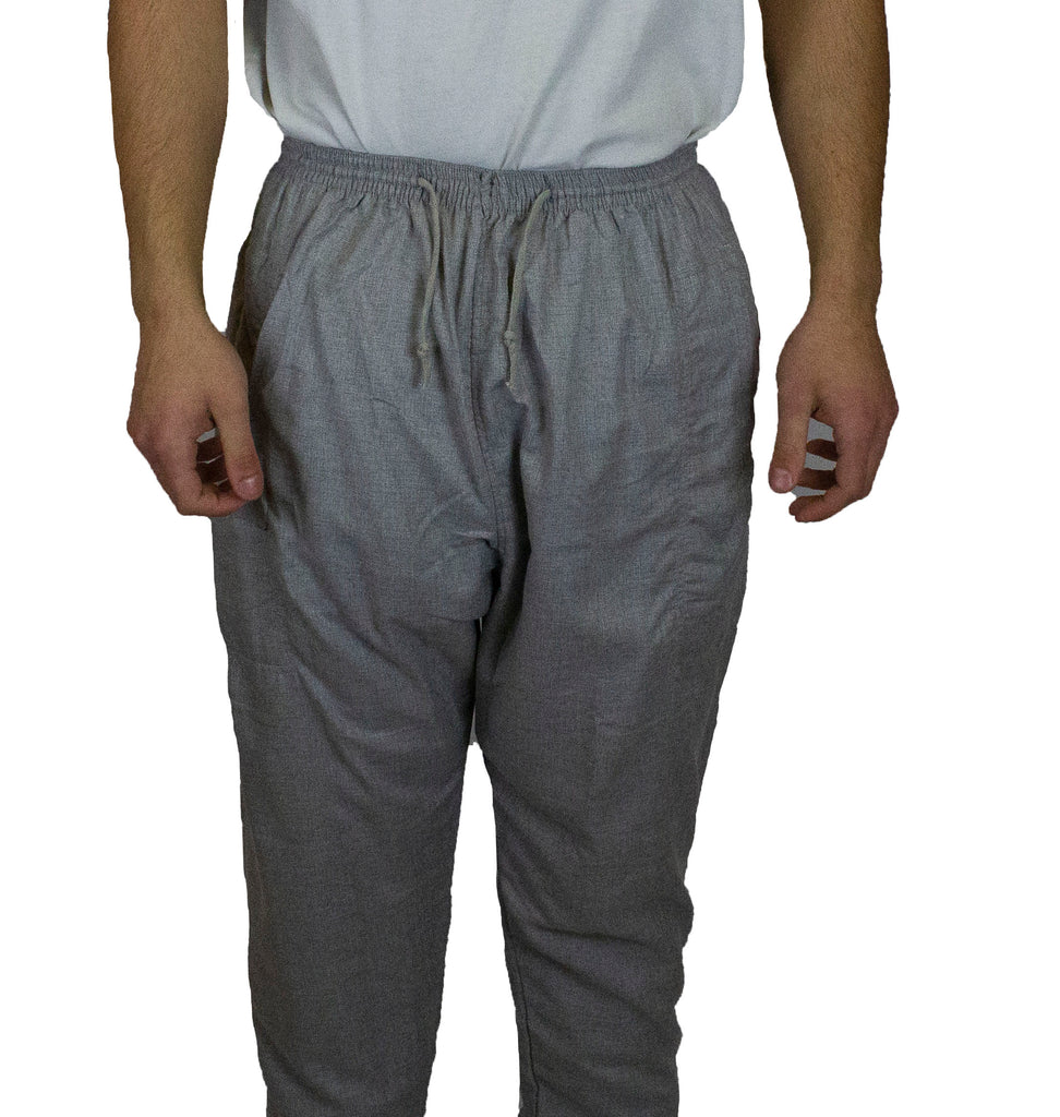 Men's Short Sleeved Thobe with Pants - Gray