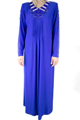 Jeweled Abaya - Royal Blue