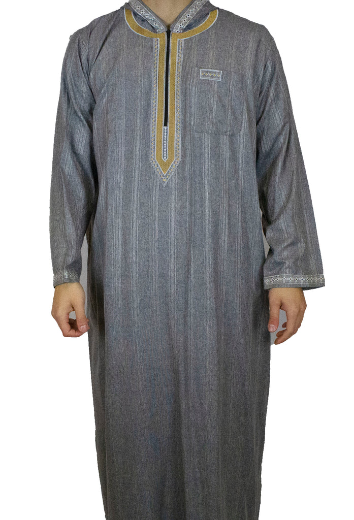 men's hooded jilbab
