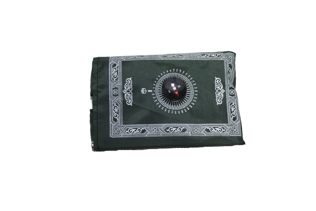 green travel prayer rug