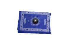 royal blue travel prayer rug