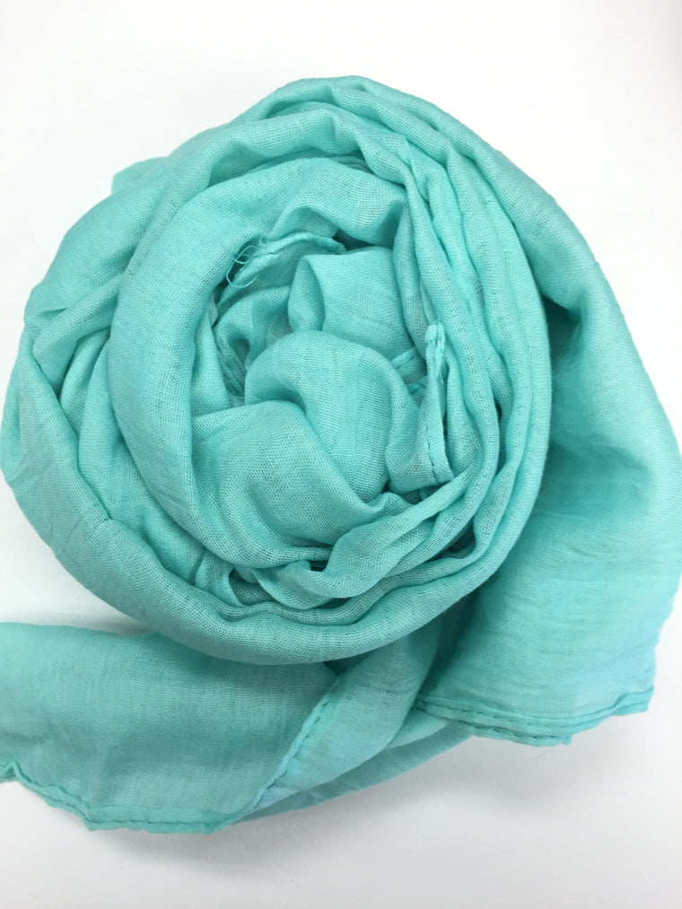 Crinkle Cotton Hijab - Bella Teal