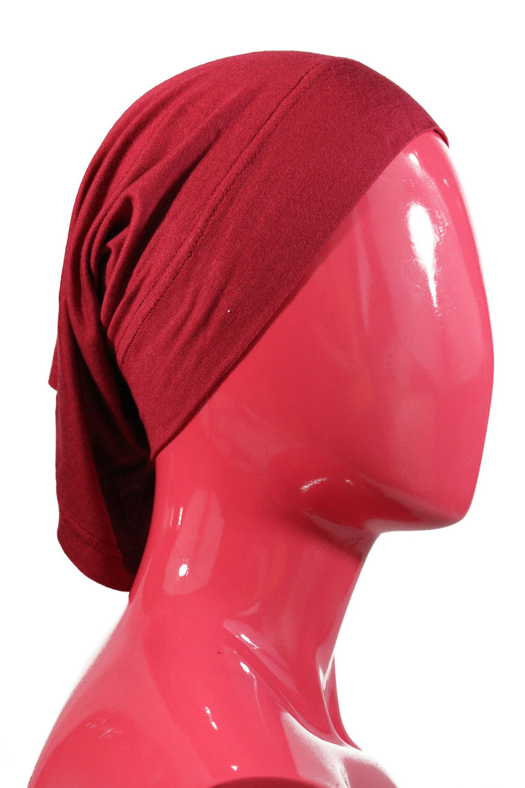 dark red under scarf tube cap for hijab