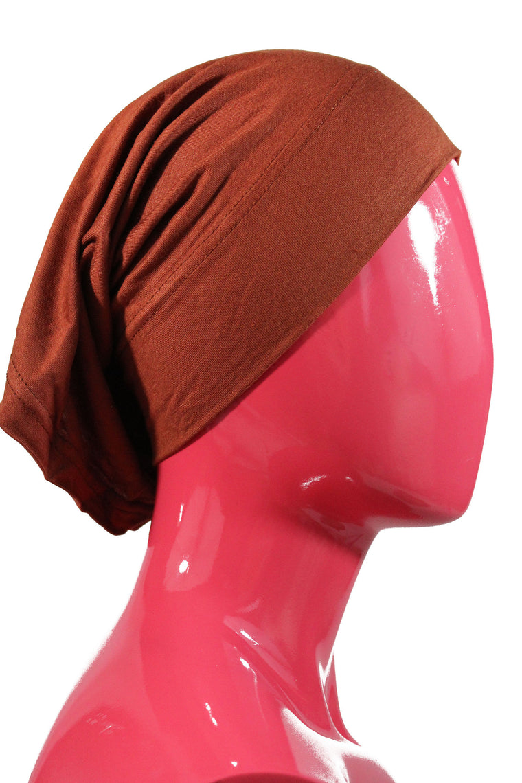 Jersey Under Scarf Tube Cap - Burnt Orange