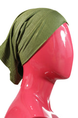 olive green under scarf tube cap for hijab