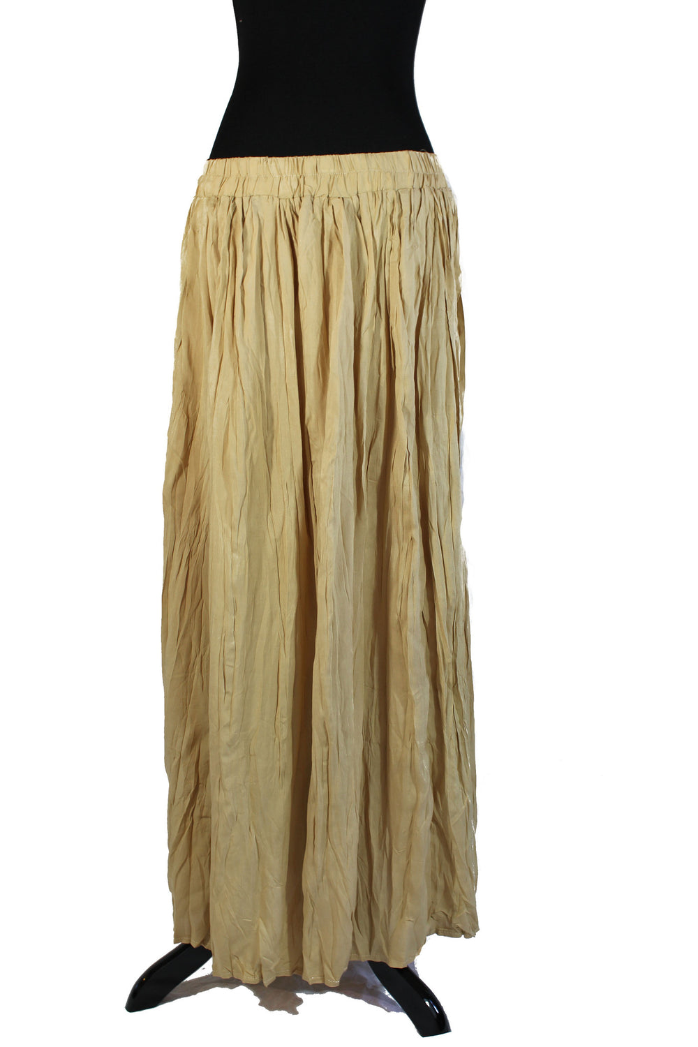 Pleated Maxi Skirt - Bamboo