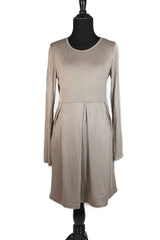 Midi Dress with Pockets - Mocha