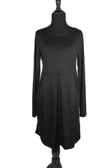 Midi Dress with Pockets - Black