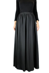 High-Waisted Maxi Skirt - Black