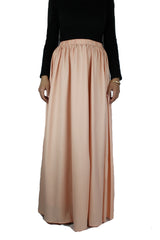 High-Waisted Maxi Skirt - Blush