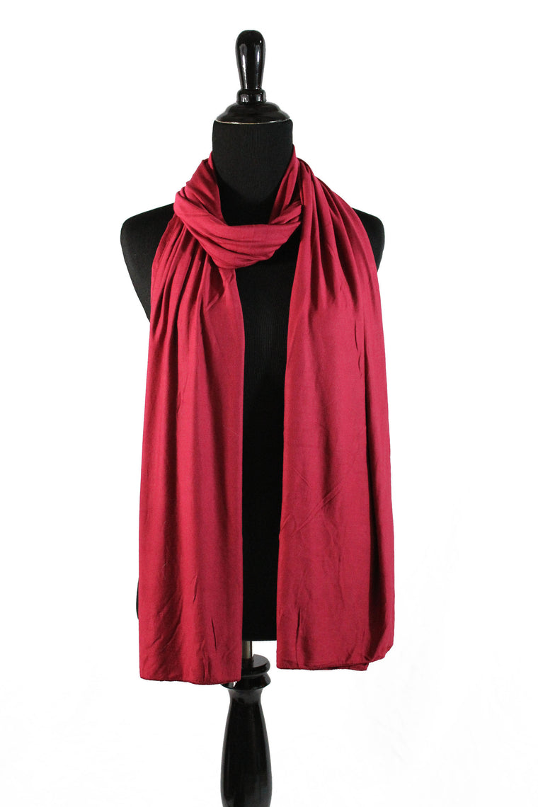 Jersey Hijab - Dark Red