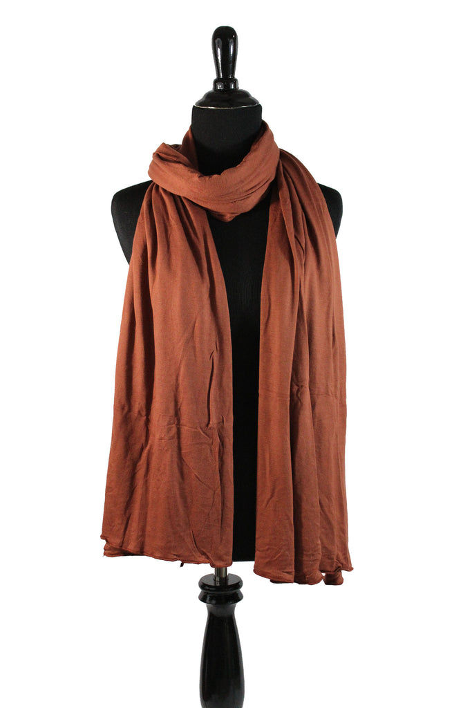 Jersey Hijab - Burnt Orange