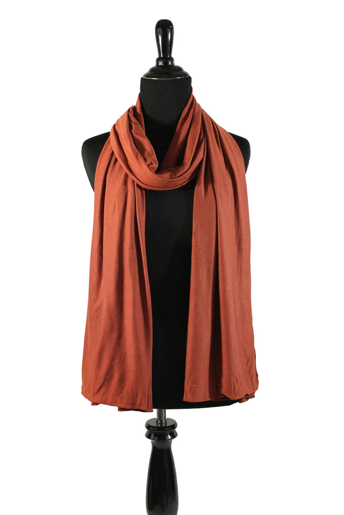 jersey hijab in burnt orange