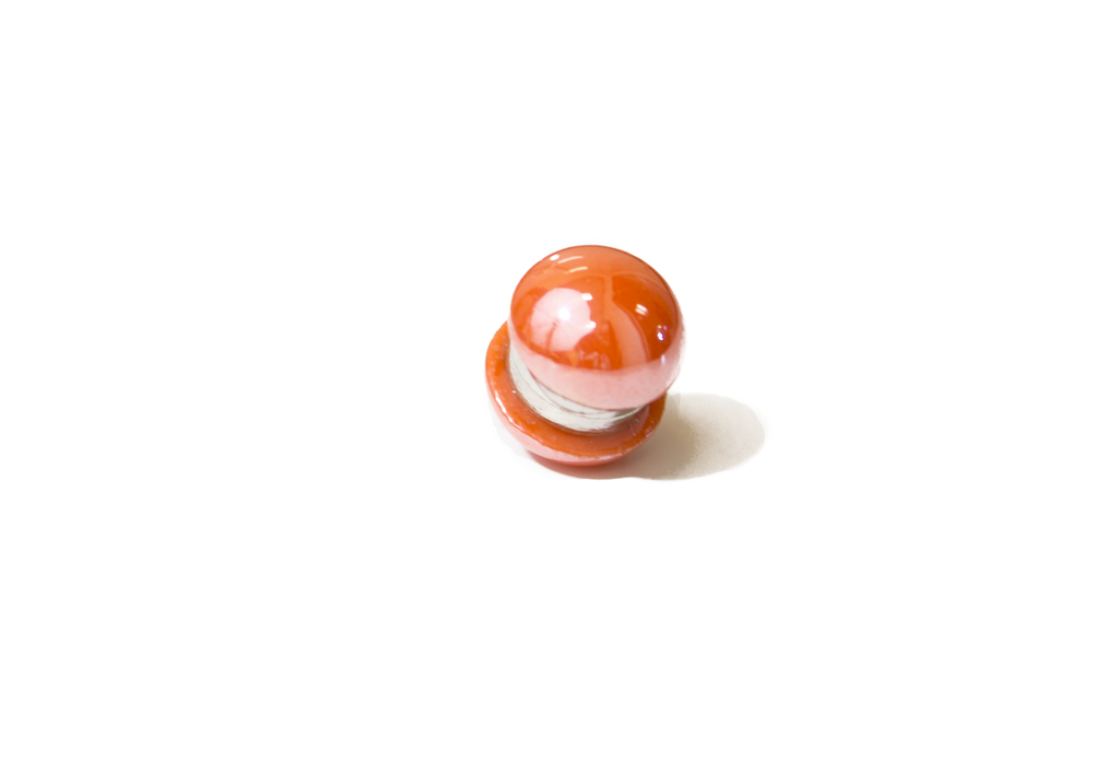 orange magnet pin