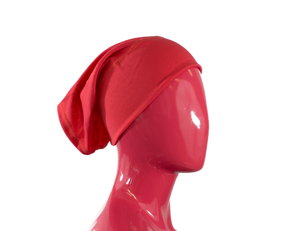 hot pink under scarf tube cap for hijab