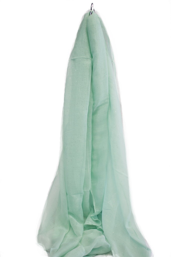 Glitter Viscose Hijab - Mint Green