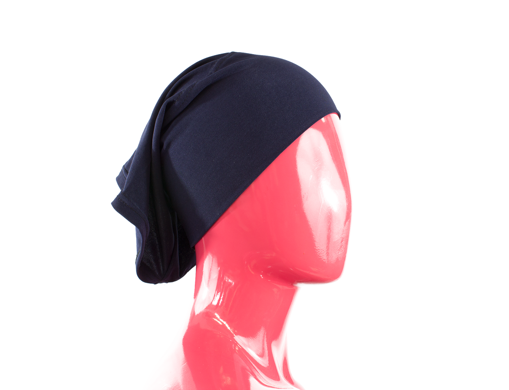 Under Scarf Tube Cap - Navy Blue