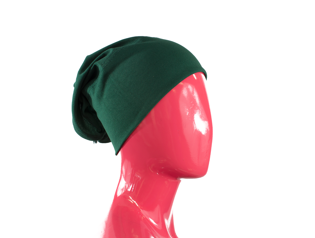 Under Scarf Tube Cap - Forest Green