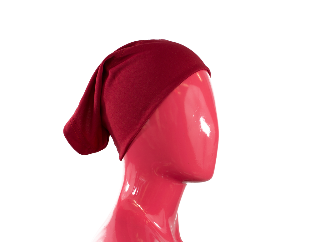 Under Scarf Tube Cap - Dark Red