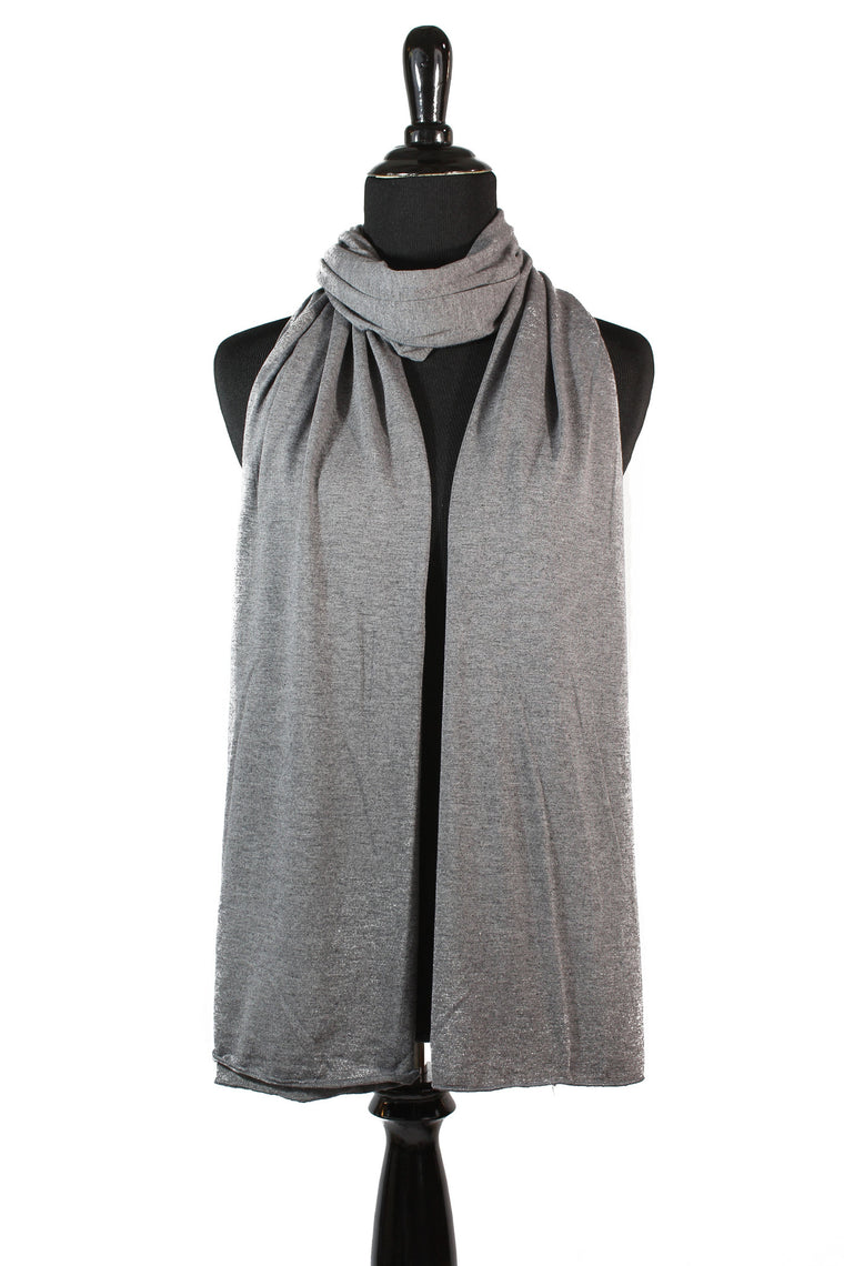 Jersey Hijab - Dark Heather Gray